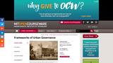 Frameworks of Urban Governance, January (IAP) 2007