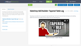 SketchUp Skill Builder: Tapered Table Leg