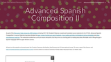 Open Educational Resources for Spanish classes - Advanced Spanish Composition II