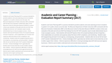 Academic and Career Planning - Evaluation  Report Summary (2017)