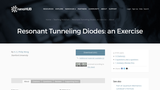 Homework for Resonant Tunneling Diodes
