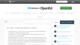 BC Open Textbooks Review Criteria