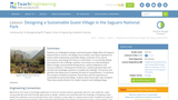 Designing a Sustainable Guest Village in the Saguaro National Park