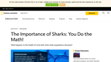 The Importance of Sharks: You Do The Math!