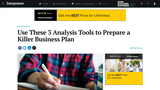 Use These 3 Analysis Tools to Prepare a Killer Business Plan