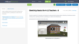 SketchUp Basics for K-12 Teachers - 8