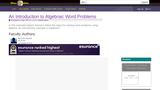 An Introductory Algebraic Word Problem