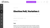 Election Poll, Variation 1