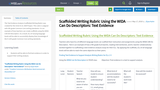 Scaffolded Writing Rubric Using the WIDA Can Do Descriptors: Text Evidence