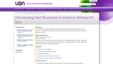 Introducing Text  Structures in Science Writing