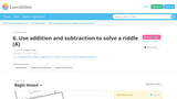 Use addition and subtraction to solve a riddle
