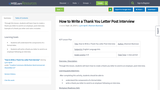 How to Write a Thank You Letter Post Interview