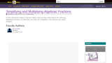 Simplifying and Multiplying Algebraic Fractions