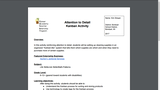 Attention​ ​to​ ​Detail Kanban​ ​Activity