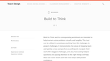 Teach Design: Build to Think