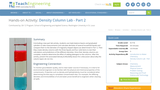 Density Column Lab - Part 2