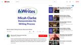 Micah Clarke's Writing Process (Wisconsin Writes)
