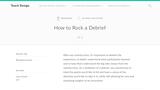 Teach Design: How to Rock a Debrief