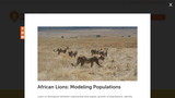 African Lions Modeling Populations