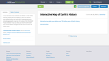 Interactive Map of Earth's History