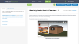 SketchUp Basics for K-12 Teachers - 7