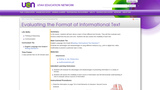 Evaluating the Format of Informational Text