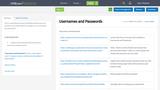 Usernames and Passwords