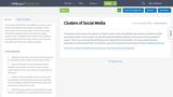 Clusters of Social Media