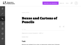Boxes and Cartons of Pencils