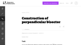 Construction of Perpendicular Bisector