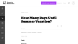 How Many Days Until Summer Vacation?