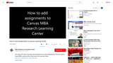 How to Add Assignments in the MBA Learning Center