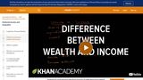 Difference between wealth and income (video)