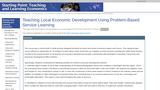 Teaching Local Economic Development Using Problem-Based Service Learning