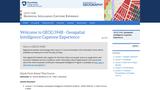 Geospatial Intelligence Capstone Experience