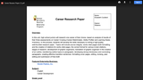 Career Research Paper CATE Lesson Plan