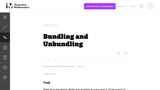 Bundling and Unbundling
