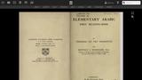 Thornton's Arabic Series Volume II, Elementary Arabic, First Reading-Book