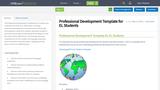 Professional Development Template for EL Students