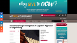 Industrial Design Intelligence: A Cognitive Approach to Engineering, Fall 2003