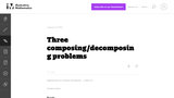 Three composing/decomposing problems