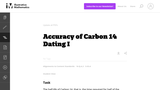 Accuracy of Carbon 14 Dating I