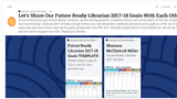 Blog Post (2017) We Can Share Our Future Ready Librarian Goals With One Another Here!