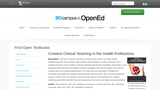Creative Clinical Teaching In The Health Professions