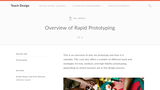 Teach Design: Overview of Rapid Prototyping