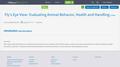 Fly's Eye View- Evaluating Animal Behavior, Health and Handling