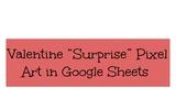 Valentine Pixel Art in Google Sheets