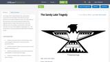 The Sandy Lake Tragedy