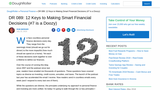 12 Keys to Making Smart Financial Decisions