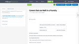Careers that use Math in a Foundry